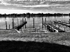 End of the season… (Dennis Sparks) Tags: blackwhite docks michigan springlake iphone