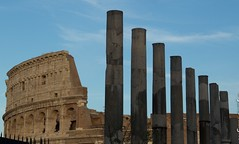 Colosseum and Ancient Pillars (juneknight56) Tags: rome roman italy colosseum