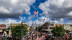 Walt Disney World - Magic Kingdom (Patrik S.) Tags: wolken clouds florida sonnig sunny usa park walt unterhaltung world disney magic kingdom amusment cinderella schloss castle main street