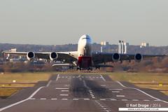 A6-EOR - Airbus A380-861 - Emirates (KarlADrage) Tags: a6eor airbus a380 airbusa380 a380861 emirates ek40 dubai dxb bhx birmingham superjumbo whale