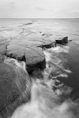Kimmeridge Bay (Carl Hall Photography) Tags: dorset kimmeridgebay landscape seascape kimmeridge water movement longexposure sea rocks blackandwhite bw coast coastal jurassiccoast