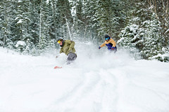 Snowboarders (Newfoundland and Labrador Tourism) Tags: western winter snow snowboard snowboards board boards snowboarding boarding snowboarder snowboarders boarder boarders marble mountain hill
