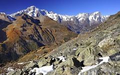 Il Monte Bianco visto dal Col de la Croix (kini_b) Tags: italia italy alpi thealps montebianco montblanc valledaosta valledaoste italie mountain montagne europe