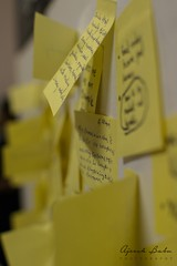 DSC_0089 (Ajeesh Babu) Tags: abstract sticky notes ajeesh photography home homephotography bored ideas yellow random candid