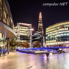 More London Riverside mit Blick auf Shards (compidoc) Tags: nacht hdr morelondonriverside shards grossbritannien london zustand sonstiges greatbritain night england vereinigtesknigreich gb