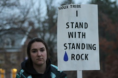 Standing Rock (katherineannephotography) Tags: unh march protest riot standing rock sioux donald trump president college university rally democrat republican independent