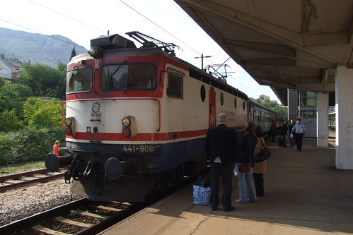 Train at the Mostar railway station, 26.05.2012.