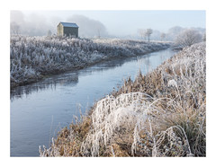 Frosted Shed (Dylan Nardini) Tags: morning november scotland winter mist frost clydevalley 2016 landscapes light snow