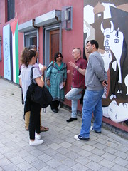 Kashmir Conflict Visit to Derry Ireland July 2014 - Museum of Free Derry (seanfderry-studenna) Tags: kashmir kashmiri visitors conflict resolution pakistan india pakistani indian men women male female people persons derry londonderry ireland irish eire talks visits students factfinding politics political museum free tour bogside discussions candid public street outdoor outside artwork art campaign bloody sunday british army murder murderers innocent victims