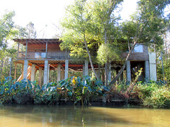 House on Stilts (shaire productions) Tags: house home stilts nature trees image imagery outdoor swamp water river lake bayou picture louisiana wild land nola neworleans slidell tour cajun country