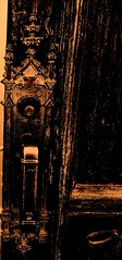 A door seeking the divine (williamw60640) Tags: church door handle stitacatholicchurch chicago architecture frenchgothic architecturaldetails doorhandle lock wooddoor ornate cathedral wood