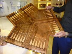 A 3-way player backgammon board. (RickyOcean) Tags: armenia nardi backgammon 3way