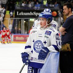 Oskar Lang 2016-03-22 (Michael Erhardsson) Tags: leksands if lif vita matchtrjor hemmamatch tegera arena shlkval 2016 uppvrmning oskar lang