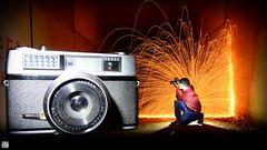 Shooting the Taron. (martbarras) Tags: taronvic waltherpl30 walthertorches martbarras forced perspective taron 35mm film camera shootingthetaron wirewool steelwool tunnel nikon d7100 tokina 1116mm wide angle brighton shoreham farnham lpuk lpwa