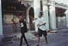 18 (Lee Sydney) Tags: olympusmjuii kodakcolourplus200 penang penanglifestyle penangisland penangmalaysia sattama bibi walking funny robot dance dancing georgetown streets malaysia friendship memories happy times