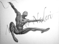 2002 Spider-Man (mansoor naderi) Tags: blue 2002 red portrait man green texture pencil pose spider artist power with sam blind ben uncle web great spiderman peterparker suit peter responsibility goblin spidey comes tobey tobeymaguire parker raimi cgi maguire legally mansoor greengoblin naderi uncleben greatpower legallyblind blindartist mansoornaderi