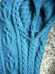"""Mystic"" sweater progress (Asplund) Tags: sweater knitting cables cascade mystic trja starmore stickning"