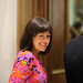 Jo Hartley attending a drinks reception at Surgeons Hall