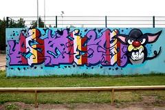 "Jakomäki_25062013_ 3 (Helsinki street art office Supafly) Tags: streetart color art suomi graffiti helsinki colorful spray urbanart spraypaint hel kiva ""street graffitiwall art"" katutaide supafly jakomäki"
