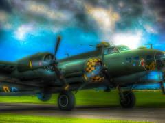 B-17 Bomber Duxford Airfield (Thanks a million everyone! -Leigh) Tags: b17 duxford hdr copyrightleighkempallrightsreserved leighkempphotoart