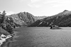 The Landscape Rarely Changes (John Westrock) Tags: blackandwhite bw lake mountains nature canon landscape scenery hiking scenic pacificnorthwest washingtonstate pnw canonef2470mmf28lusm coldwaterlake canoneos7d