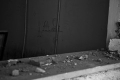 Le avventure di E.T. (Sabry Ardore) Tags: school white cinema black brick abandoned ex broken window wall sad place space ground tunnel it ufo drug reality anarchy welcome grayscale et reportage