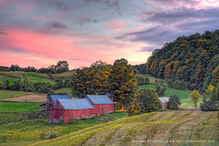 Sunset Over Jenne Farm (Michael Petrizzo) Tags: sunset vermont farm country barns pasture jenne
