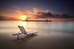 A New Day has Come (eggysayoga) Tags: longexposure sky bw bali cloud sun seascape motion beach sunrise indonesia landscape sand chair nikon long exposure day cloudy ss hard tokina filter le 09 lee nd awan bale pantai graduated balai pasir langit sanur karang waterscape bengong 10stop nd110 nd32 1116mm d7000 sekepat