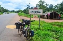 Day292-Bike-130822 (jbdodane) Tags: africa road man bicycle sign cycling velo ctedivoire cotedivoire ivorycoast cyclotourisme day292 bikeseries cycletouring freewheelycom