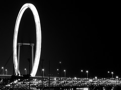 The Singapore Flyer BW (tord75) Tags: street nightphotography photography singapore exposure 2013 worldwidephotowalk worldwidephotowalk2013