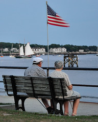 Together (LC Lebaillif) Tags: water ship newengland americanflag gloucester americana oldercouple clippership