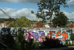 graffiti (wojofoto) Tags: holland graffiti arnhem nederland railway netherland spoor trackside spoorweg defs wojofoto