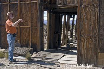 Dick examines Death Valley Mines structures