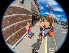_MG_3740-18 (k.a. gilbert) Tags: outside outdoors lucy parkinglot charlotte mother naturallight fisheye kristen target wife milf manualfocus uwa manualaperture rokinon8mmf35 hd8mc