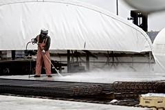 Keeping it clean (WSDOT) Tags: th wsdot sr520 pontoons wastate bridge construction concrete workers floatingbridge kiewit sr520pontoons cycle4 aberdeen