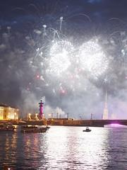 White Night Festival, St Petersburg (ChihPing) Tags: travel white festival night stpetersburg fireworks russia petersburg olympus firework f18 45mm omd  whitenight    2013 em5