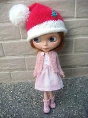 Blythe cheek pink cardigan