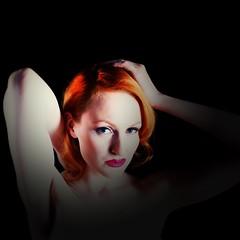 Red head (hethelred) Tags: leica blue red portrait 35mm hair model eyes voigtlander lipstick 12 nokton m9