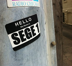 SEGE (billy craven) Tags: chicago graffiti sticker handstyles cya rgs slaptag sege