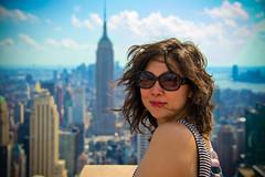 Checking out the beautiful view (bwilliamp) Tags: nyc newyorkcity usa ny newyork manhattan empirestatebuilding bigapple topoftherock 30rock