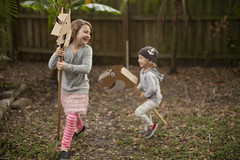 Flatout Frankie Riding Dino and Unicorn (Tabitha Blue / Fresh Mommy) Tags: autumn cute fall smile kids fun play natural outdoor cardboard laugh recycle