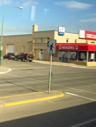 Funny crossing sign in Moose Jaw, SK