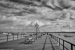 (( ( ( Nico ) ) )) Tags: sky bw clouds uruguay muelle cielo nubes coloniadelsacramento