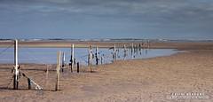Fenced Off (DMeadows) Tags: sea beach water fence landscape coast scotland seaside wire sand waves fife dune coastal posts tentsmuir davidmeadows dmeadows davidameadows dameadows
