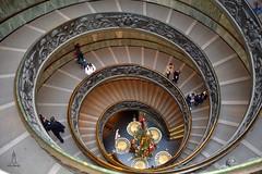 At the Vatikan (hartp) Tags: christmas italy brown museum stairs weihnachten stair advent snail treppe round braun rund rom oval stufen vatikan treppen schecke hartp