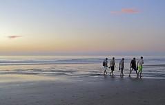 Low tide... (mar-itz) Tags: pink sunset sea sky cloud sun color men sol beach water atardecer amigo mar sand agua friend rosa wave playa arena cielo lowtide nube hombre ola mareabaja