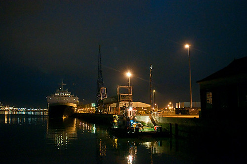 Mayflower berth at night