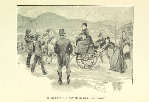 """Image taken from page 31 of 'Through Connemara in a Governess Cart. By the authors of """"An Irish Cousin"""" [i.e. Edith Œ. Somerville and """"Martin Ross,"""" i.e. Violet Martin]. Illustrated by W. W. Russell, from sketches by Edith Œ. Somerville. [Reprinted from """""""