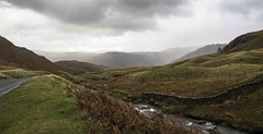 To Little Gatesgarthdale (KH748) Tags: england mountains clouds landscape rocks stream lakedistrict hills cumbria stonewall ferns