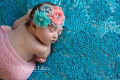 Kenley (njmommyof3boys) Tags: pink baby flower girl coral lace teal peach wrap newborn headband